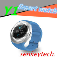 """Wholesale Gps Watch Calories - New Y1 Bluetooth Smart Watch 1.54"""" Touch Screen Fitness Activity Tracker Sleep Monitor Pedometer Calories Track support SIM card solt"""