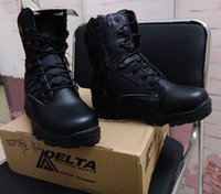 zapatos delta al aire libre al por mayor-Durable zapatos al aire libre a prueba de agua Delta Boots Desert color negro Botas de Combate Zapatos al aire libre Breathable Wearable Tactical Boots