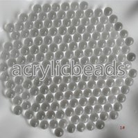 Wholesale Cheap Plastic Christmas Balls - 1500pcs Cheap 4mm Small Clear Plastic Balls Acrylic Round Beads no Hole for Christmas Party Decoration 50g