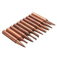 Wholesale Copper Soldering Irons - New Arrival 10pcs 900M-T Soldering Tip Pure Copper Electric Iron Head Series Solder Tool Hot Sale