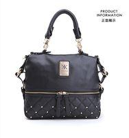 Wholesale Chain Bag Iphone Case - New Fashion kardashian kollection brand black chain women leather handbag shoulder bag KK Bag totes phone case free shippin