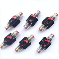 Wholesale fuse car audio - Car Audio 20A 30A 40A 60A 80A 100 Amp Circuit Breaker Manual Reset Switch Fuse Holder