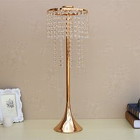 Wholesale Led Acrylic Stands - New Arrival 60 CM Height Candle Holder Acrylic Crystal Wedding Table Candle Sticks Flower Road Leads Event 1 lot = 10 Pcs