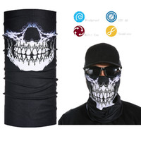 Atacado - Crânio Half Face Bandana Skeleton Motorcycle Face Shield
