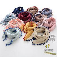 Wholesale Toddler Boy Scarves - Hot sale Fashion boys girls Winter Scarf 2017 new cotton tassels Children Scarves Kids Scarf Toddler Scarves Children Wear A1013