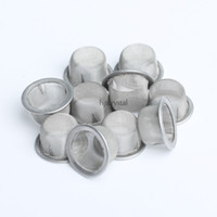 Wholesale quartz shapes - 12.7mm Round Diameter 7mm Height Wholesale Smoking Screens Bowl Shaped Quartz Crystal Smoking Pipe Tobacco Metal Filters Smoking Accessories