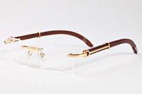 ingrosso occhiali neri delle donne nere-14 colori occhiali da sole senza montatura boschi di vendita calda naturale nero bufalo corna occhiali da uomo per le donne occhiali di lusso occhiali formato: 55-140mm