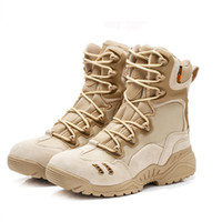 Wholesale Desert Combat Tactical Boots - Free Shipping Men's Delta Tactical Hunting Airsoft Boots Outdoor Sports Camping Hiking Climbing Round Toe Desert Combat Boots