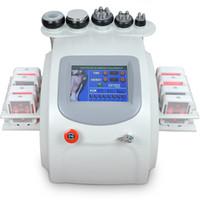 Wholesale Lipolaser Lipolysis Slimming Machine - Multifunction Lipolaser Slimming Machine 650nm Lipo Laser Lipolysis Vacuum 40K Ultrasonic Cavitation Radio Frequency RF Device