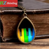 Wholesale Hot New Fashion Jewellery - Hot Fashion Rustic Piano New York City Necklace,Piano Jewellery,Piano Accessory glass dome cabochon necklace TD-0032