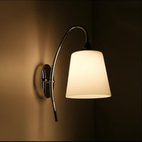Wholesale Frosted Glass For Lamp - Simple modern glass wall lamp bedroom bedside lamp E27 Led Living Room Parede Wall Lights For Home Lighting AC220V AC110V