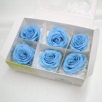 Wholesale Manufacturers Life - Eternal life to spend Blue demon ji Rose flower heads simulation flowers 5-6 cm material wholesale flowers manufacturer