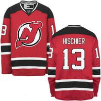 Wholesale custom nhl hockey jerseys - Hot NEW ARRIVAL New Jersey Devils #13 Nico Hischier 2017 No.1 Draft Pick Custom NHL Hockey Jerseys White Red Cheap