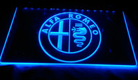 Wholesale Neon Light Sign Car - LS939-b-Alfa-Romeo-Car-Services-Parts-Neon-Light-Sign Decor Free Shipping Dropshipping Wholesale 6 colors to choose