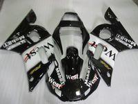 Wholesale Sticker Yamaha - Fairing kit for Yamaha YZF R6 98 99 00 01 02 west sticker black bodywork fairings set YZFR6 1998-2002 OT03