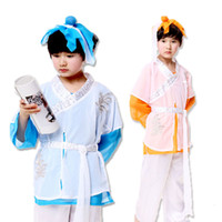 Wholesale Costume Dance Kids Christmas - Hot sell Children Cosplay Costumes Kids Clothing Set Children servant visit Masquerade Party Clothes Children's Dance Costume free shopping