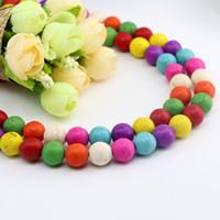 Wholesale Turquoise Spacer Beads - Mix Color Round Turquoise Loose Spacer Beads for Jewelry Making DIY Bracelet Necklace 4 6 8 10 12mm