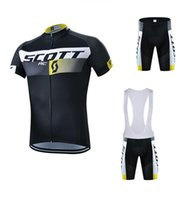 Wholesale scott bike clothing - 2017 Scott Tour De France Cycling Jerseys Short Sleeves ropa ciclismo High Quality summer Bike Wear Quick Dry Bicycle Clothing Size XXS-5XL