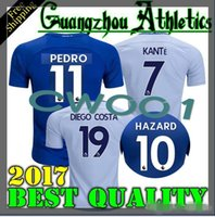 Shirt Chelsea Blue Pas Cher-17 18 Top Quality Chelsea Soccer Jersey 2017 2018 Accueil Blue White Willian DANGER Pedro DIEGO COSTA KANTE WILLIAN DAVID LUIZ Chemises de football