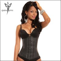 Wholesale Corset For Slim Waist - Wholesale- korsett for women belly latex Waist trainer body shapers cinta modeladora de corpo fajas slimming sheath waist Trainer corsets