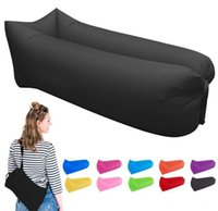Wholesale Inflatable Trampolines For Kids - Fast Inflatable Air Lounger Portable with Carry Bag Waterproof Air Bag Sofa Nylon Beach Bag Air Sleeping Sofa Couch Lazy Bed for Hiking