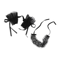 Wholesale Sexy Hand Cuffs - Women's Sexy Lingerie Black Lace Eye Covers With 1 Pair Hand Cuff Wrap Gloves Lace Garters