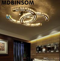 lustres de cristal au plafond moderne achat en gros de-15w 18w 35w 48w LED lustres en cristal moderne pendentif lumière argent ambre encastré plafonniers pour salon AC110-240V