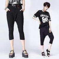 Wholesale Slacks Female - 2016 Newest Summer Women's Pant Casual Cropped Trousers Female Capris Harem Pants Fashion Loose Thin Black Brand slacks pants