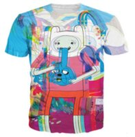 Wholesale Adventure Time T Shirt Women - Newest Fashion Summer Men Women Jake Finn The Adventure Time Psychedelic Harajuku Style Funny 3d Print Casual T-shirt S-5XL H108