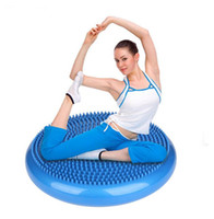 Wholesale inflatable ball exercises online - Yoga exercise balance pad massage seat cushion yoga Balance trainers balls point massage ball inflatable fitness ball for health