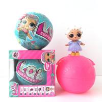 Wholesale Wholesale Dolls For Sale - Hot Sale Toy LOL surprise Doll 7.5cm Diameter Ball Toys 2 Function LOL Surprise Ball Toy For Kids Christmas Gift
