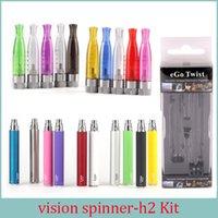 plumas vape g al por mayor-Kit de visión Cigarrillos electrónicos 2.0ml GS H2 Vape Pen 650/900/1100/1300 mah 3.3-4.8V Ego Twist E cig