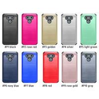 moq lg achat en gros de-Cas Armure Pour Motorola Moto E4 G5 Plus G4 G4 Plus Coolpad Catalyst 3622A LG Stylo 3 ls777 G6 hybride brossé double couche Moq 10Pcs / modèle