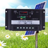panel solar batería de carga 12v al por mayor-Regulador auto de la carga del regulador de la batería del panel solar 10A / 20A 12V 24V Interruptor auto LD291