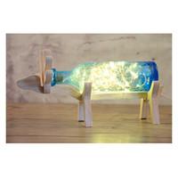 ingrosso bolla di fissaggio-Lampada festiva in vetro a bolle, creativa lampada da tavolo a LED tipo di bottiglia, lampada da camera, apparecchio di illuminazione, vacanza vestire la luce.