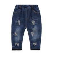 Wholesale Teenage Boy Clothing Styles - Boys Jeans Kids Pants Children Trousers Kids Clothes Boy Jeans Pants Teenage Boy Denim Pants Age 4 5 6 7 8 9 Year