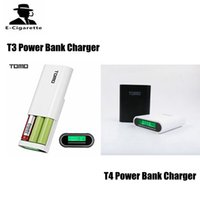 Wholesale power input - TOMO T3 T4 Power Bank 18650 Li-ion Battery Charger DIY Mobile Intelligent PowerBank Dual Input Output without battery VS M2 M3 M4 Charger