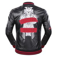 Wholesale Style Men Jacket Fur - leather jacket men fashion leather men's clothing casual motorcycle slim fit sporty style clothing long sleeve rhinestone coatst