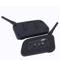 dualband vhf uhf handheld groihandel-2019- Vnetphone V6 Motorrad Bluetooth3.0 Helm Intercom Headset 1200M Moto Wireless BT Interphone für 6 Fahrer Helm Intercom