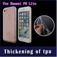 Wholesale soft case huawei p8 lite online – custom 2MM Thickness Armor Transparent Soft TPU For Huawei P9 lite P8 lite phone Protective case cover Opp Bag