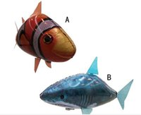 Wholesale Electric Yiwu - Flying fish remote control tNEW Flying Fish Remote Control Toys Air Swimmer Inflatable Plaything Clownfish Big Shark Toy Children Gifts B001