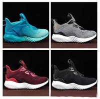Wholesale Alpha Red - 2017 Arrival Top Quality Women Men Alpha Bounce Boost 330 Running Shoes Black Gold Blue Alphabounce comfortable Sport Sneakers