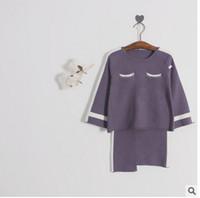 Wholesale Irregular Hem Skirt - Girls princess outfits 2017 new autumn children cartoon long sleeve tops+irregular hem skirts 2pcs sets kids fashion clothing C0812