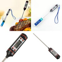 Wholesale Bbq Temperature - NEW Digital BBQ Thermometer Cooking Food Probe Food Thermometer Meat Thermometer Kitchen Instant Digital Temperature Read Food Probe WX-C12