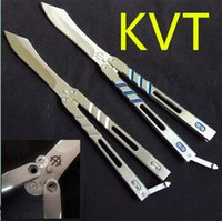 Wholesale Hunting Knifes Sheath - Better quality benchmade DESPERADO AB Balisong BRS ALPHA BEAST KVT folding Knife Full Steel Gift Collection Knife With K Sheath 1pcs