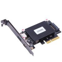 Wholesale Protection Chip - 10Gb s PCI-e to usb3.1 Type-C + Type-A expansion card network adapters card FOR desktop PC computer ASM1142 Chip Protection case