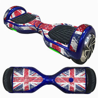 Wholesale two wheel balance boards - Wholesale- Premium 6.5 Inch Self-Balancing Scooter Skin Hover Electric Skate Board Sticker Two-Wheel Smart Protective Cover Case Stickers