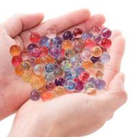ingrosso vasi aqua-42000pcs pack Acqua Aqua Crystal Soil Wedding Gel palla perline Vasi centrotavola perline acqua Magic Jelly Ball Dopo ammollo