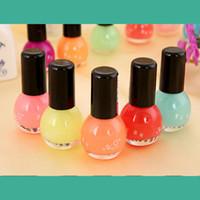 Wholesale Cheap Nail Paints - Wholesale-12 colors nail polish glow in the dark nail polish and paint Neon Fluorescent Luminous oil matte nail polish cheap nail polish