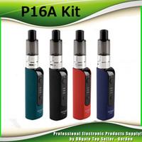 Wholesale Pen Clearomizer - Original Justfog P16A Starter Kits e cig vape pen 900mah J-Easy 3 Battery 1.9ml P16A Clearomizer updated Q16 kit 100% Authentic 2245013